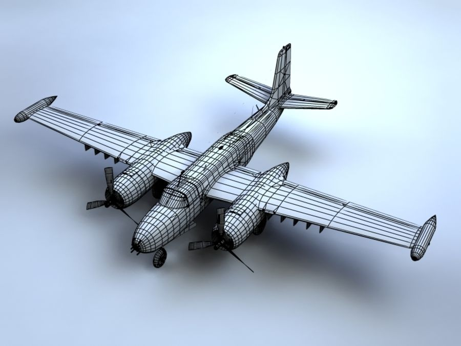 A-26K Counter Invader royalty-free modelo 3d - Preview no. 11