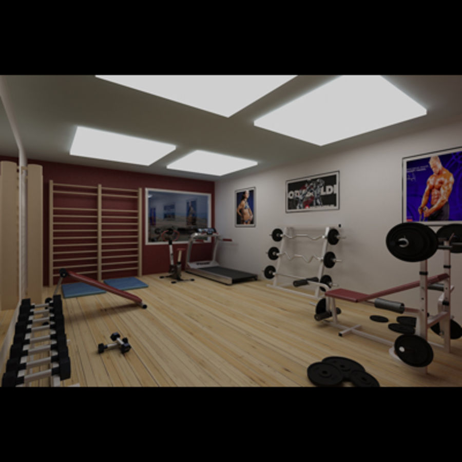 Gym royalty-free 3d model - Preview no. 3