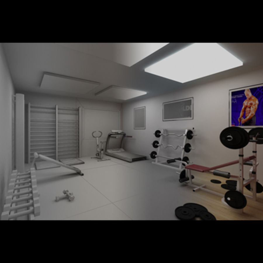 Sportschool royalty-free 3d model - Preview no. 9