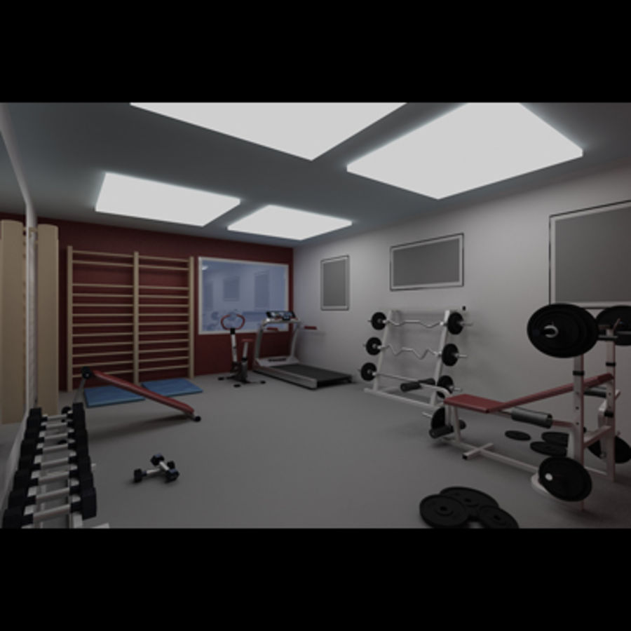 Gym royalty-free 3d model - Preview no. 6