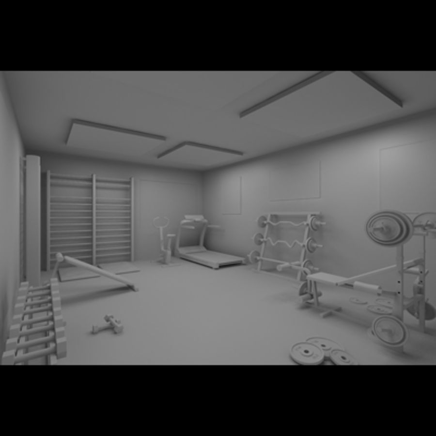 Gym royalty-free 3d model - Preview no. 7