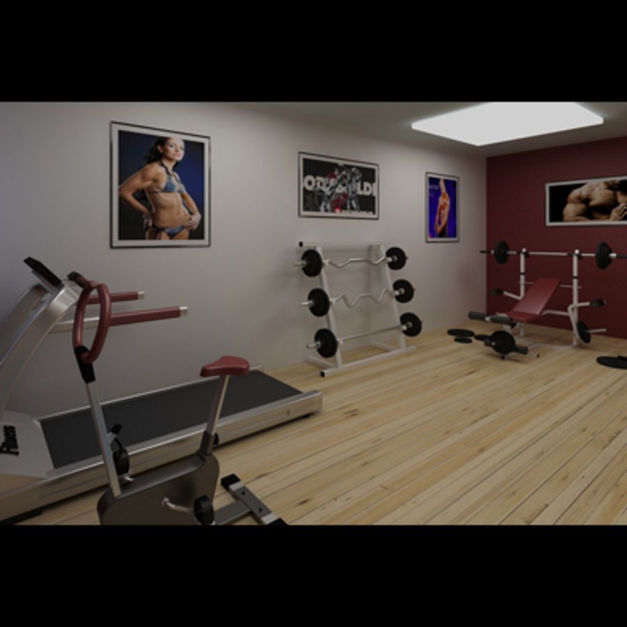 Gym royalty-free 3d model - Preview no. 5