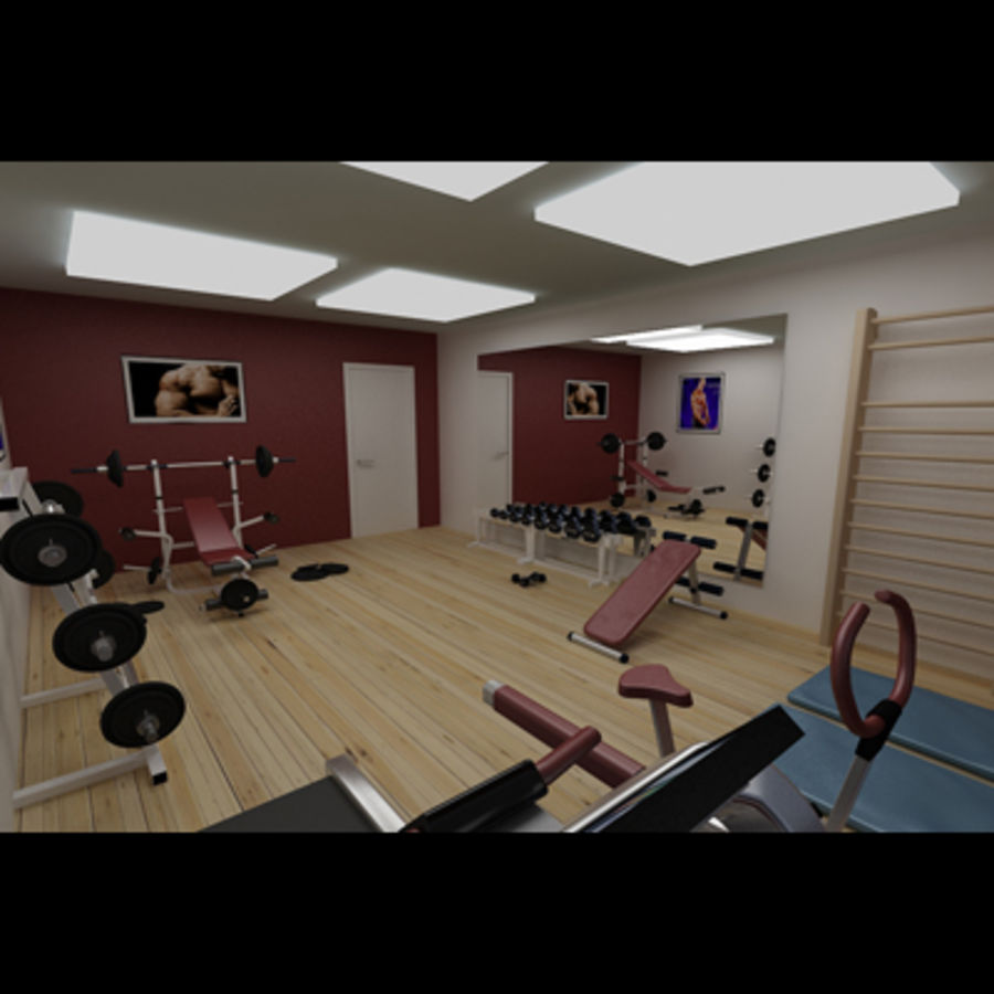 Gym royalty-free 3d model - Preview no. 4