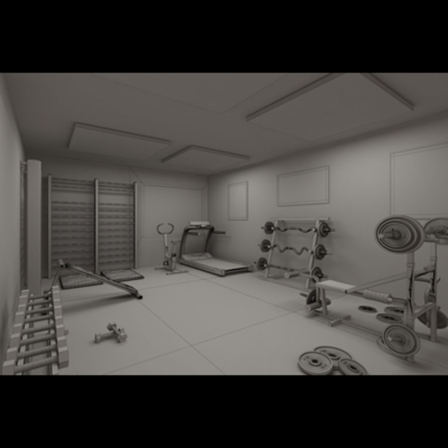 Gym royalty-free 3d model - Preview no. 8