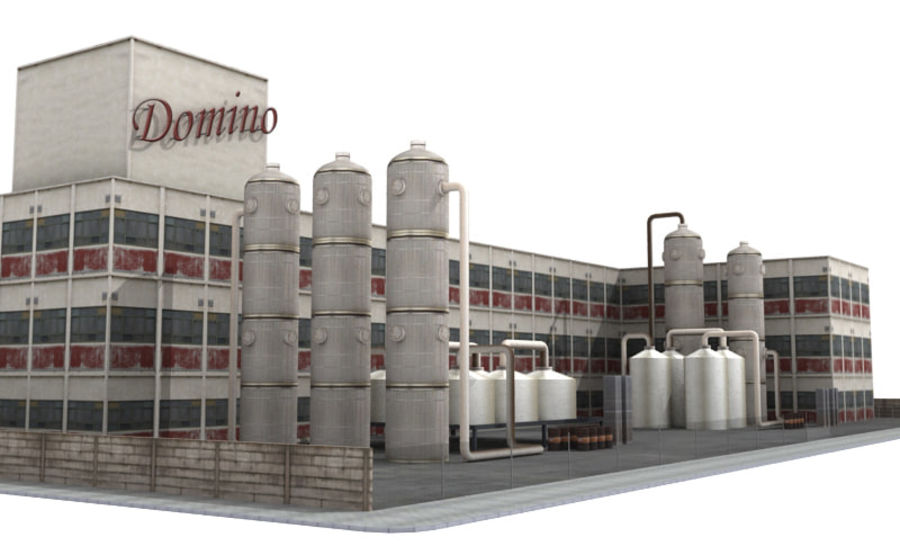 Factory Building (low poly) royalty-free 3d model - Preview no. 1