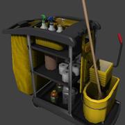 Carrello bidello pulizia 3d model