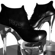 Tobillo fetiche botas sexy modelo 3d