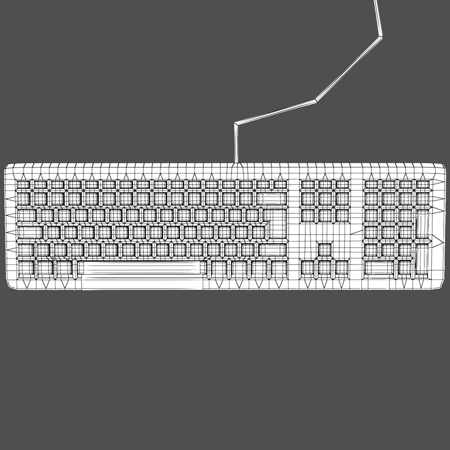 Computer Keyboard 3d 모델 royalty-free 3d model - Preview no. 7
