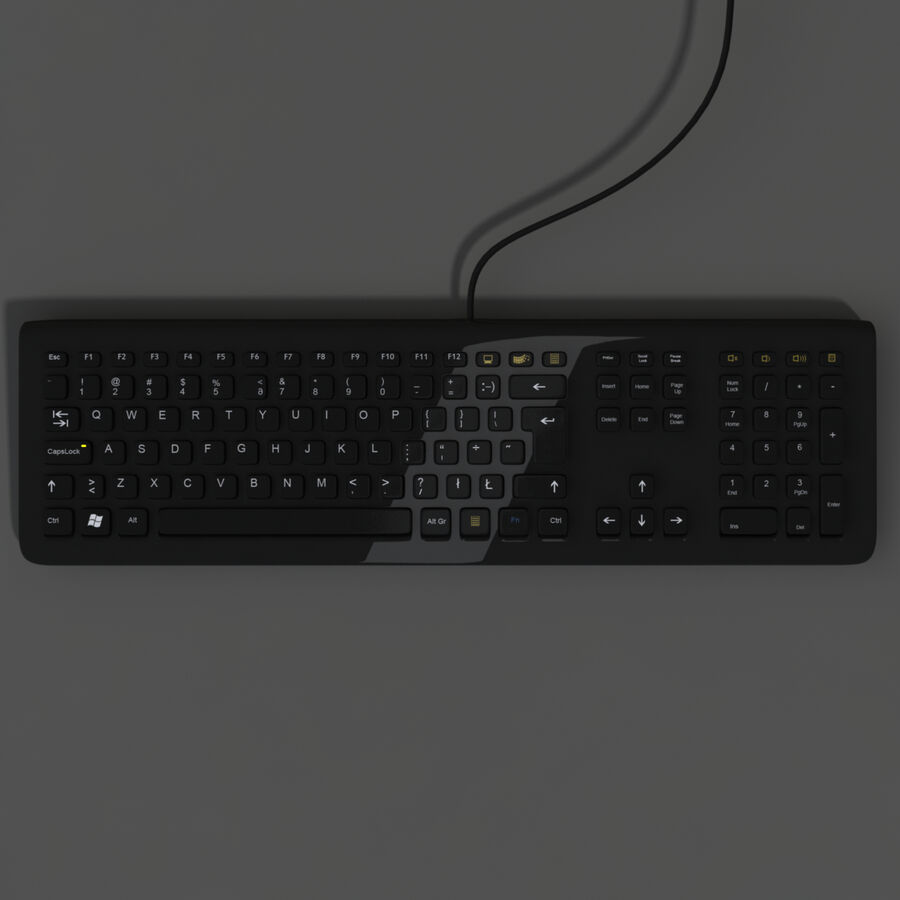 Computer Keyboard 3d 모델 royalty-free 3d model - Preview no. 6