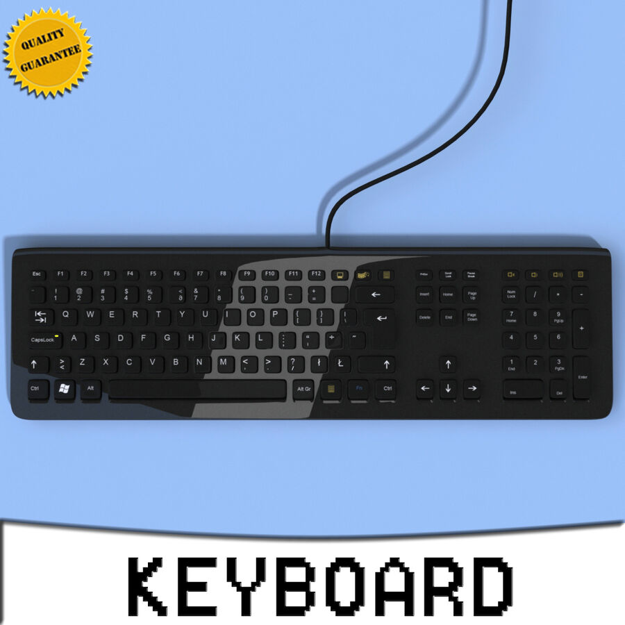 Computer Keyboard 3d 모델 royalty-free 3d model - Preview no. 1