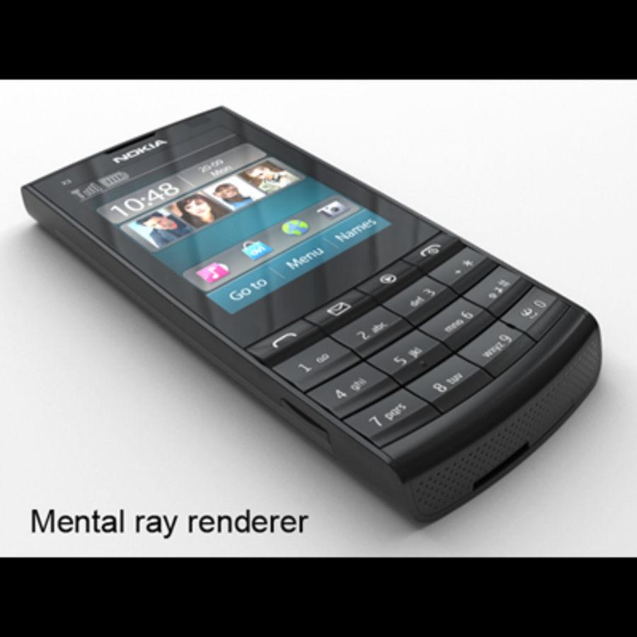 Nokia X3-02 Toque e tipo royalty-free 3d model - Preview no. 26