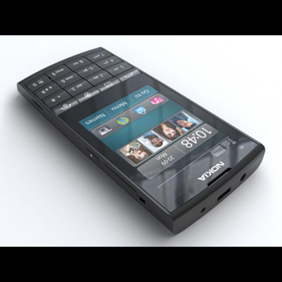 Nokia X3-02 Toque e tipo royalty-free 3d model - Preview no. 2