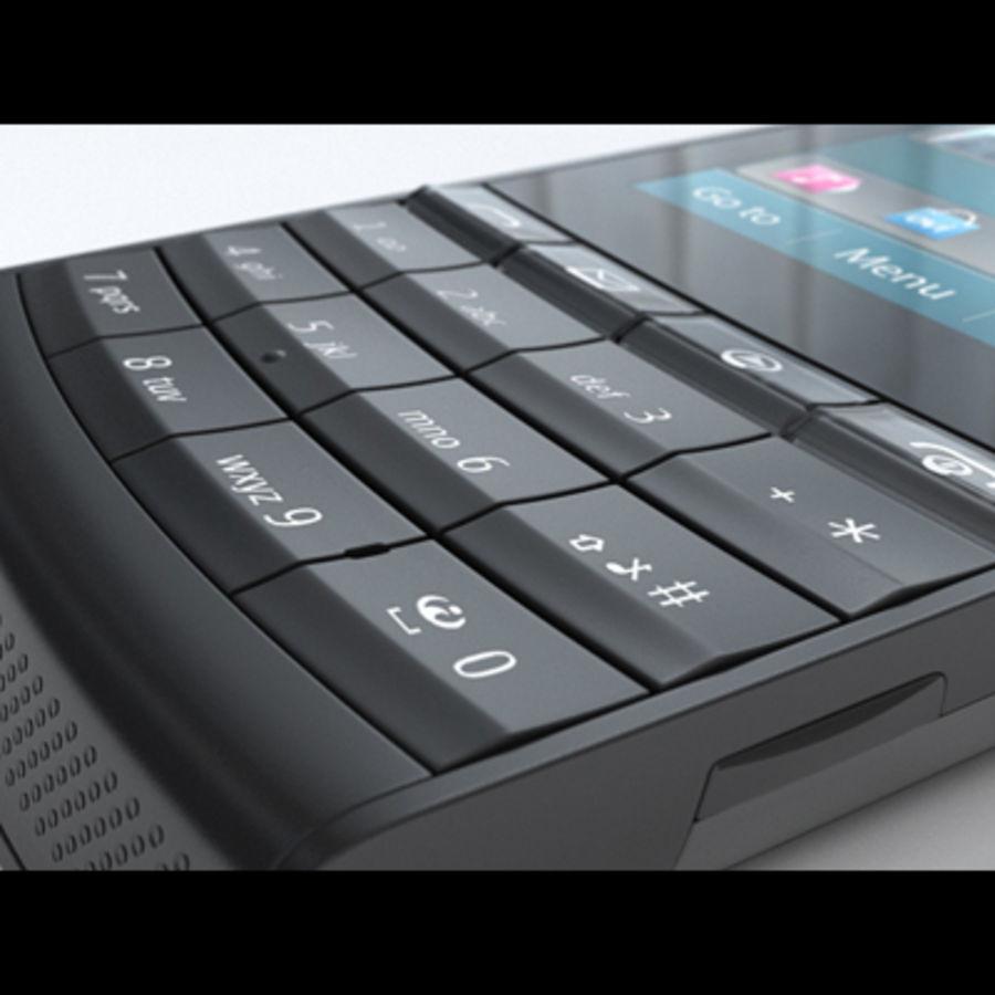 Nokia X3-02 Toque e tipo royalty-free 3d model - Preview no. 17
