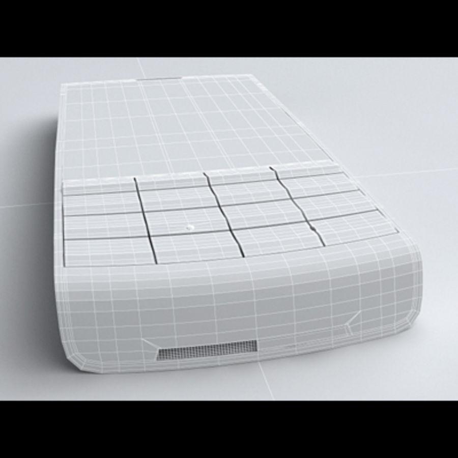 Nokia X3-02 Toque e tipo royalty-free 3d model - Preview no. 24