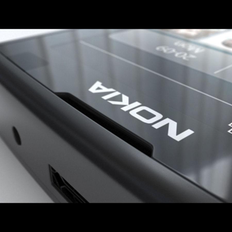 Nokia X3-02 Toque e tipo royalty-free 3d model - Preview no. 18