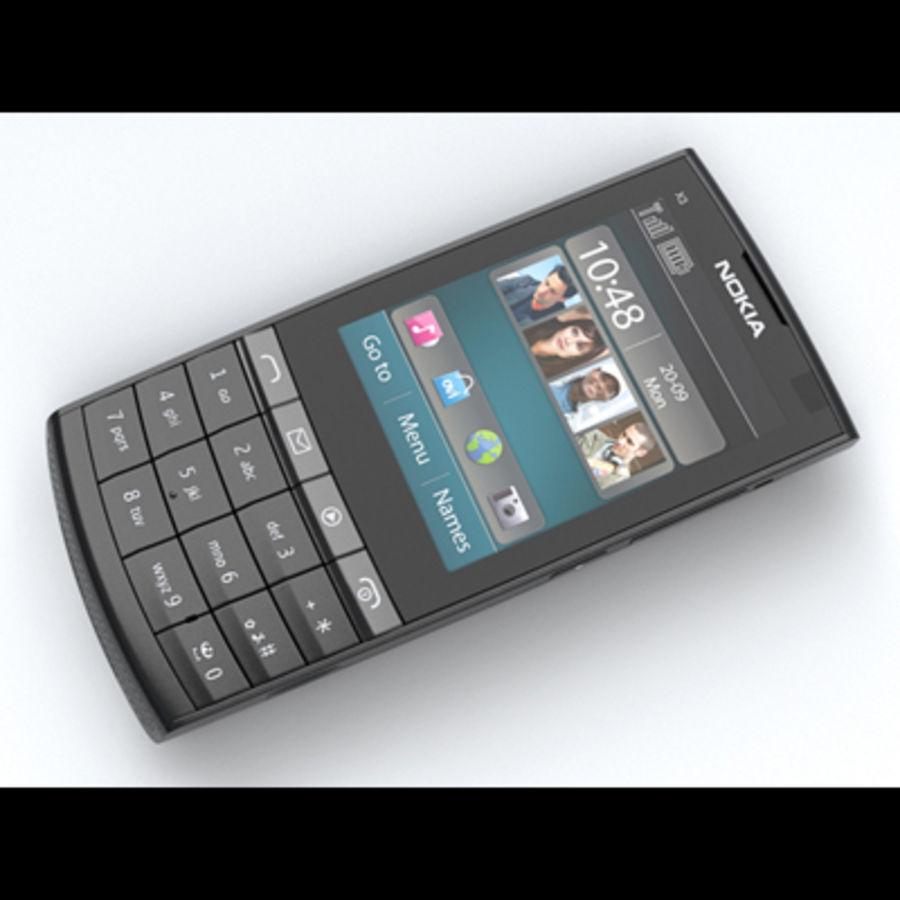 Nokia X3-02 Toque e tipo royalty-free 3d model - Preview no. 8
