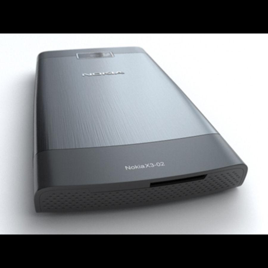 Nokia X3-02 Toque e tipo royalty-free 3d model - Preview no. 13