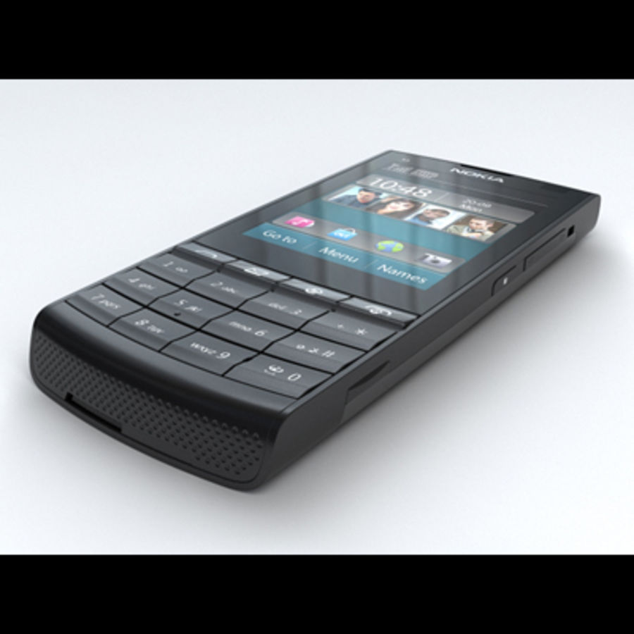 Nokia X3-02 Toque e tipo royalty-free 3d model - Preview no. 3