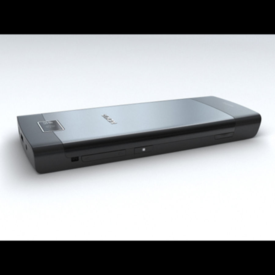 Nokia X3-02 Toque e tipo royalty-free 3d model - Preview no. 14