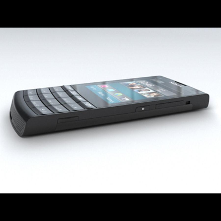 Nokia X3-02 Toque e tipo royalty-free 3d model - Preview no. 6