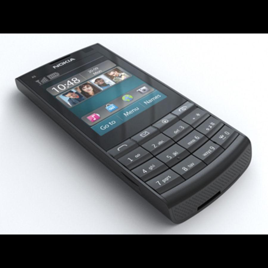 Nokia X3-02 Toque e tipo royalty-free 3d model - Preview no. 1