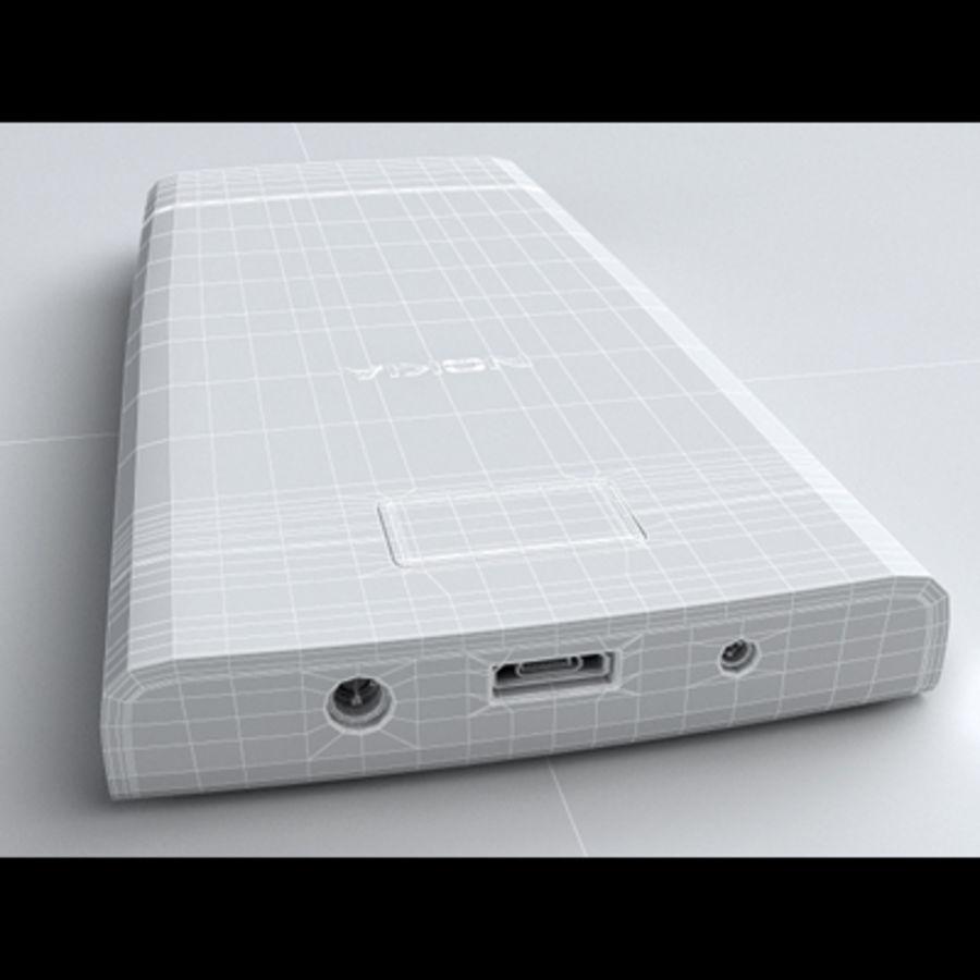 Nokia X3-02 Toque e tipo royalty-free 3d model - Preview no. 25