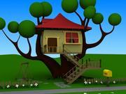 domek na drzewie 3d model