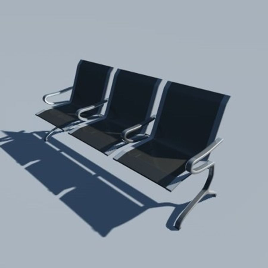 Banco para aeroporto royalty-free 3d model - Preview no. 1