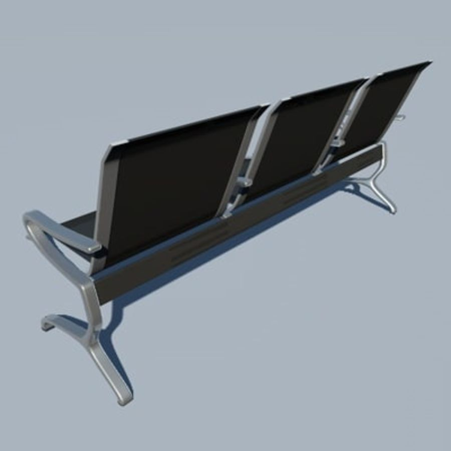 Banco para aeroporto royalty-free 3d model - Preview no. 2