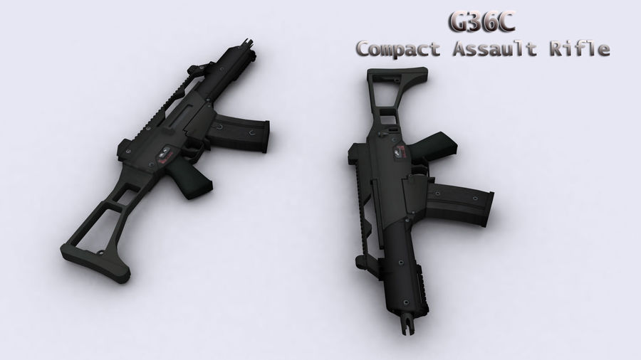 G36C royalty-free 3d model - Preview no. 4