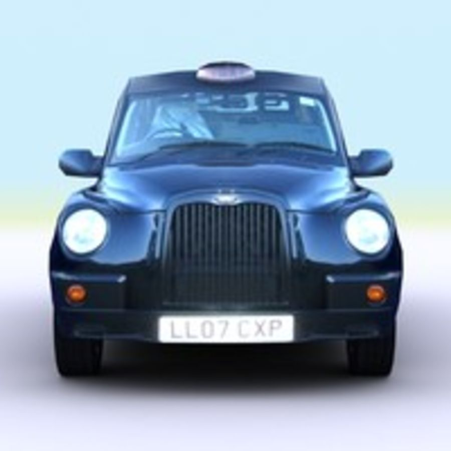 2007 London Taxi Cab royalty-free 3d model - Preview no. 1