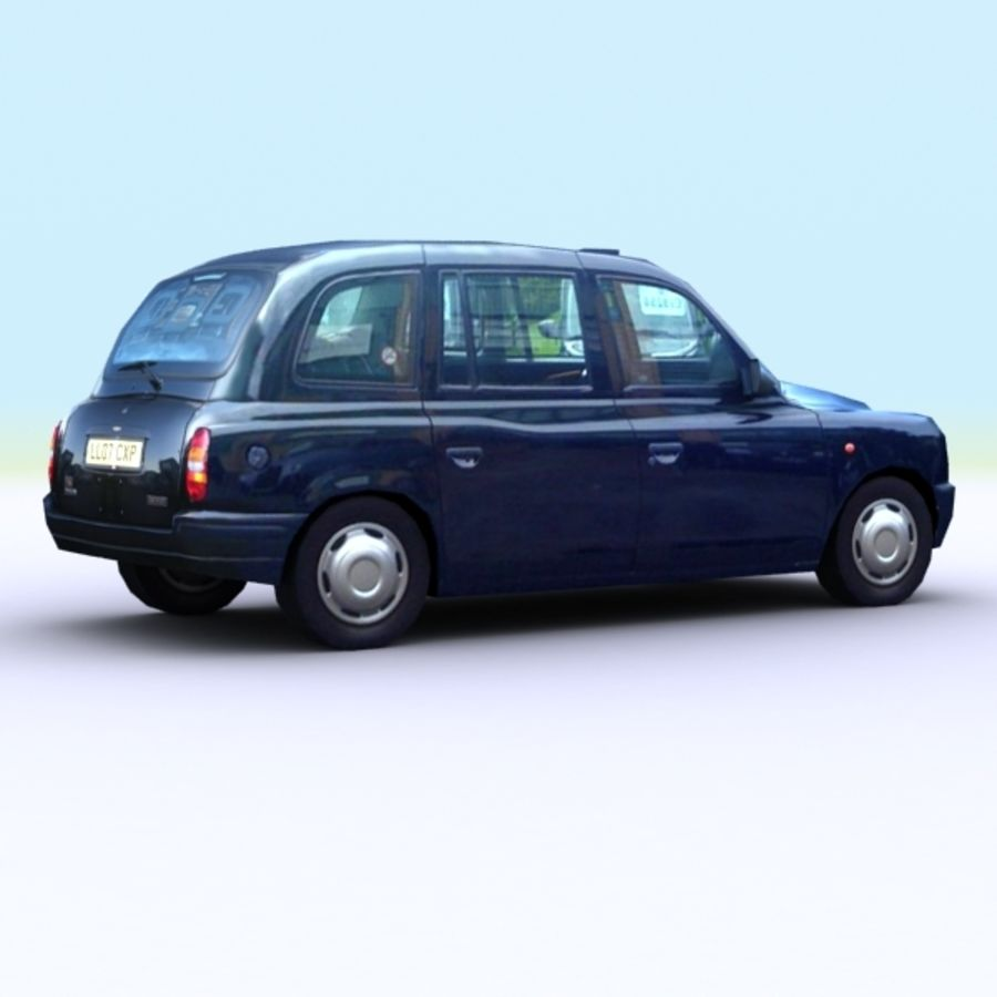 2007 London Taxi Cab royalty-free 3d model - Preview no. 2