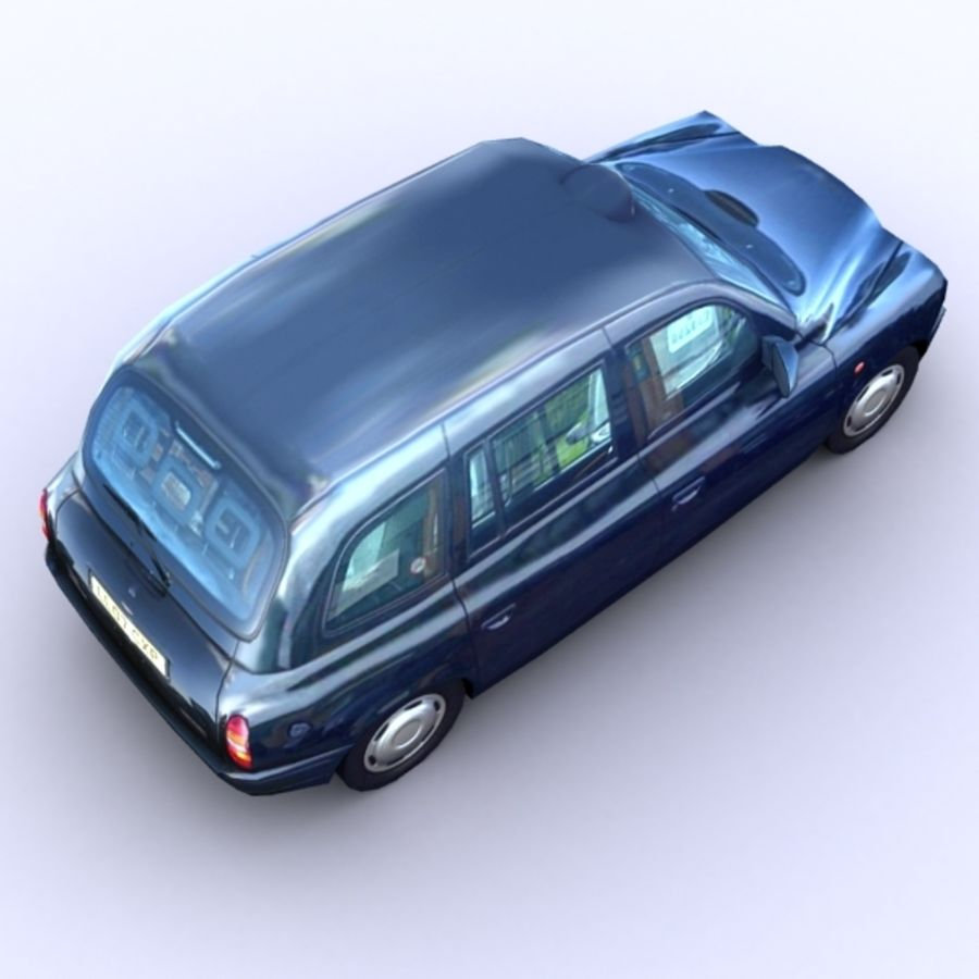 2007 London Taxi Cab royalty-free 3d model - Preview no. 3