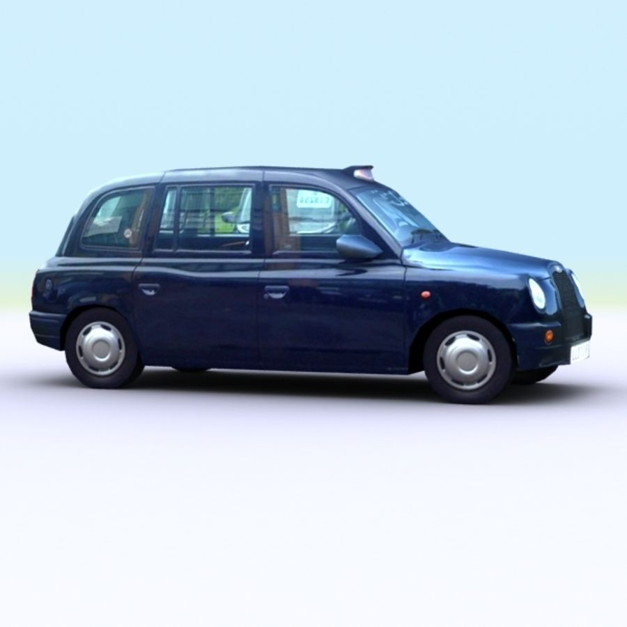 2007 London Taxi Cab royalty-free 3d model - Preview no. 5
