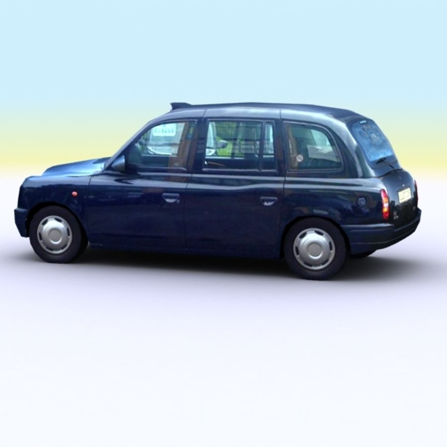 2007 London Taxi Cab royalty-free 3d model - Preview no. 4