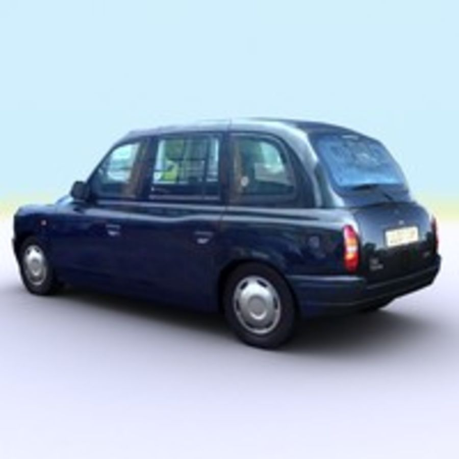 2007 London Taxi Cab royalty-free 3d model - Preview no. 7