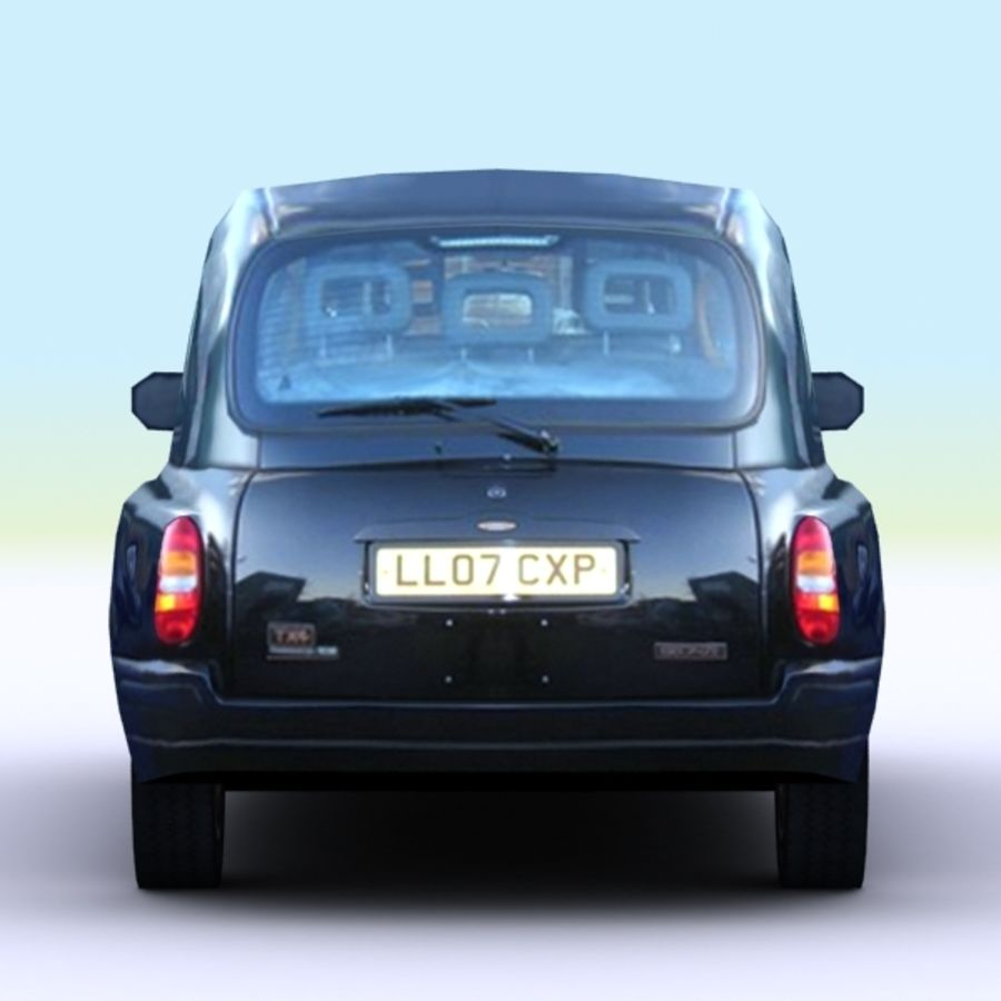 2007 London Taxi Cab royalty-free 3d model - Preview no. 6