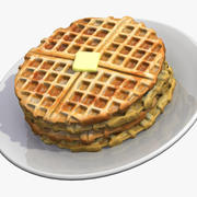 Breakfast Waffles 3d model