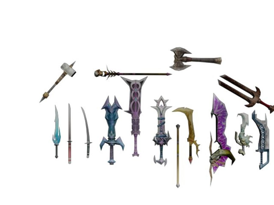 15 Weapons (Pack One) royalty-free 3d model - Preview no. 2
