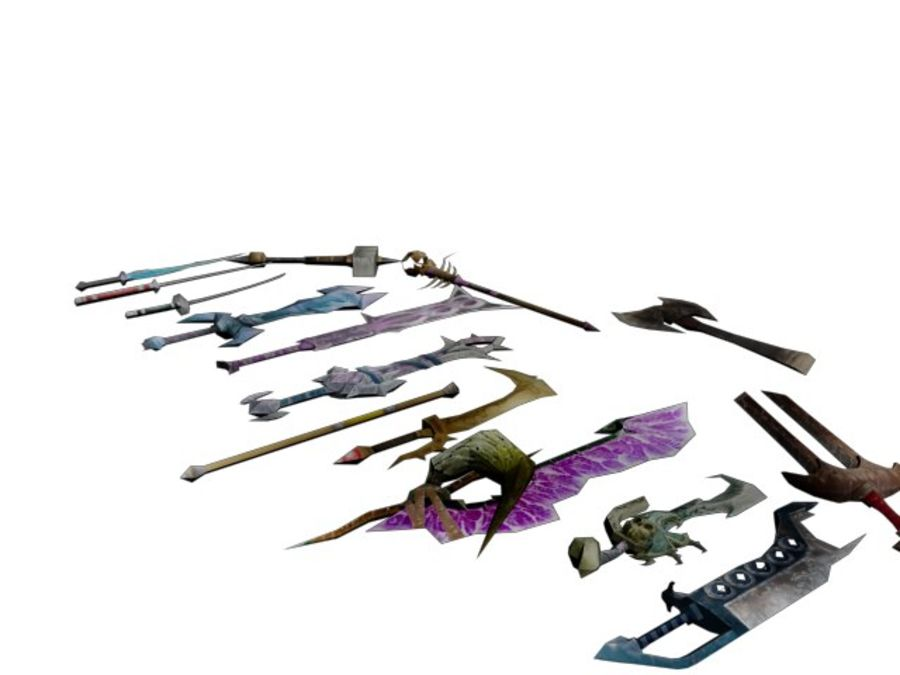 15 Weapons (Pack One) royalty-free 3d model - Preview no. 1