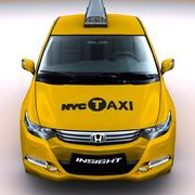 2010 Honda Insight NYC такси 3d model