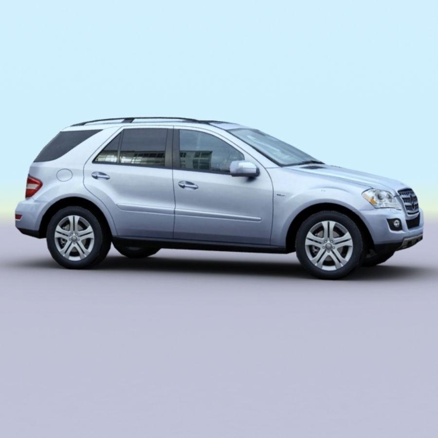 2010 Mercedes ML450 Hybrid royalty-free 3d model - Preview no. 5
