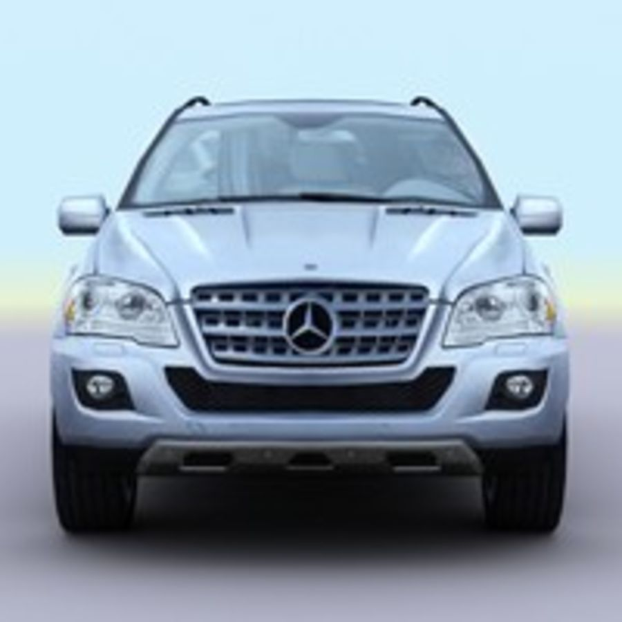 2010 Mercedes ML450 Hybrid royalty-free 3d model - Preview no. 1