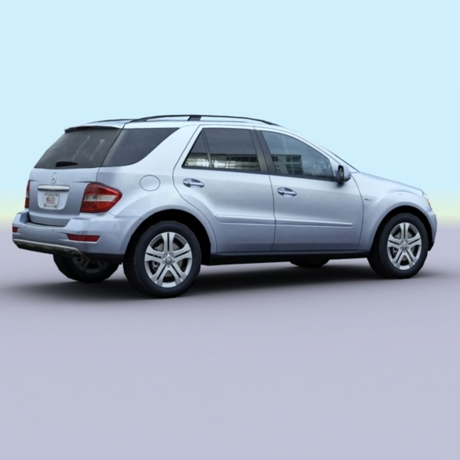 2010 Mercedes ML450 Hybrid royalty-free 3d model - Preview no. 2