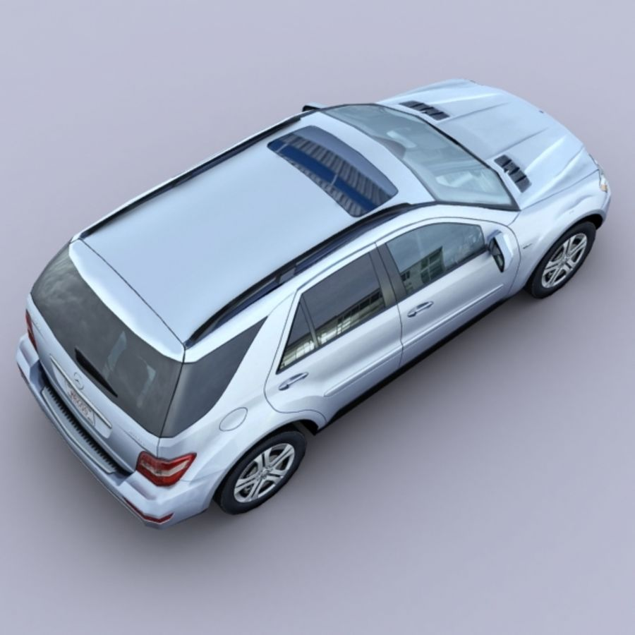 2010 Mercedes ML450 Hybrid royalty-free 3d model - Preview no. 3