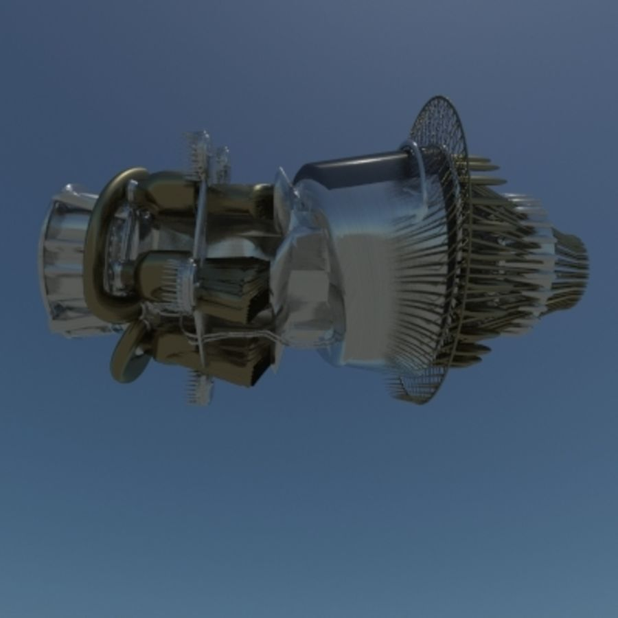 Motor a jato em pé royalty-free 3d model - Preview no. 4