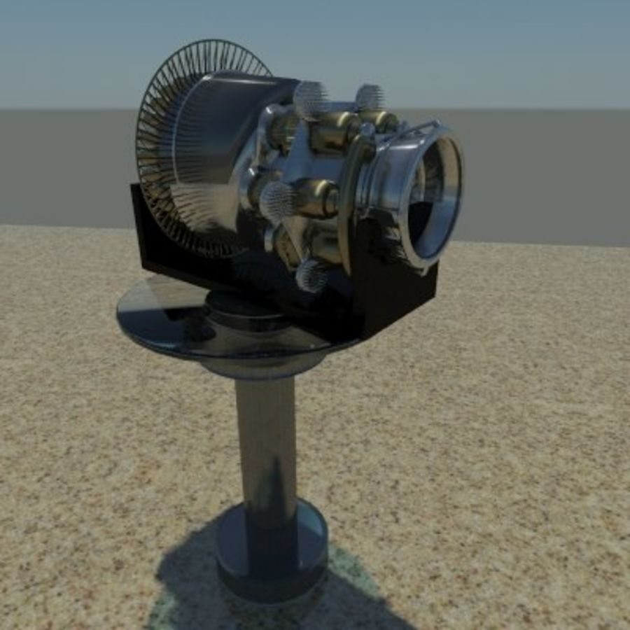 Motor a jato em pé royalty-free 3d model - Preview no. 2