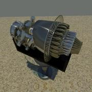 Jet Engine On Stand 3d model