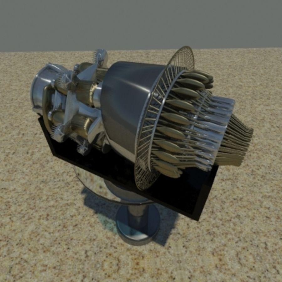 Motor a jato em pé royalty-free 3d model - Preview no. 1