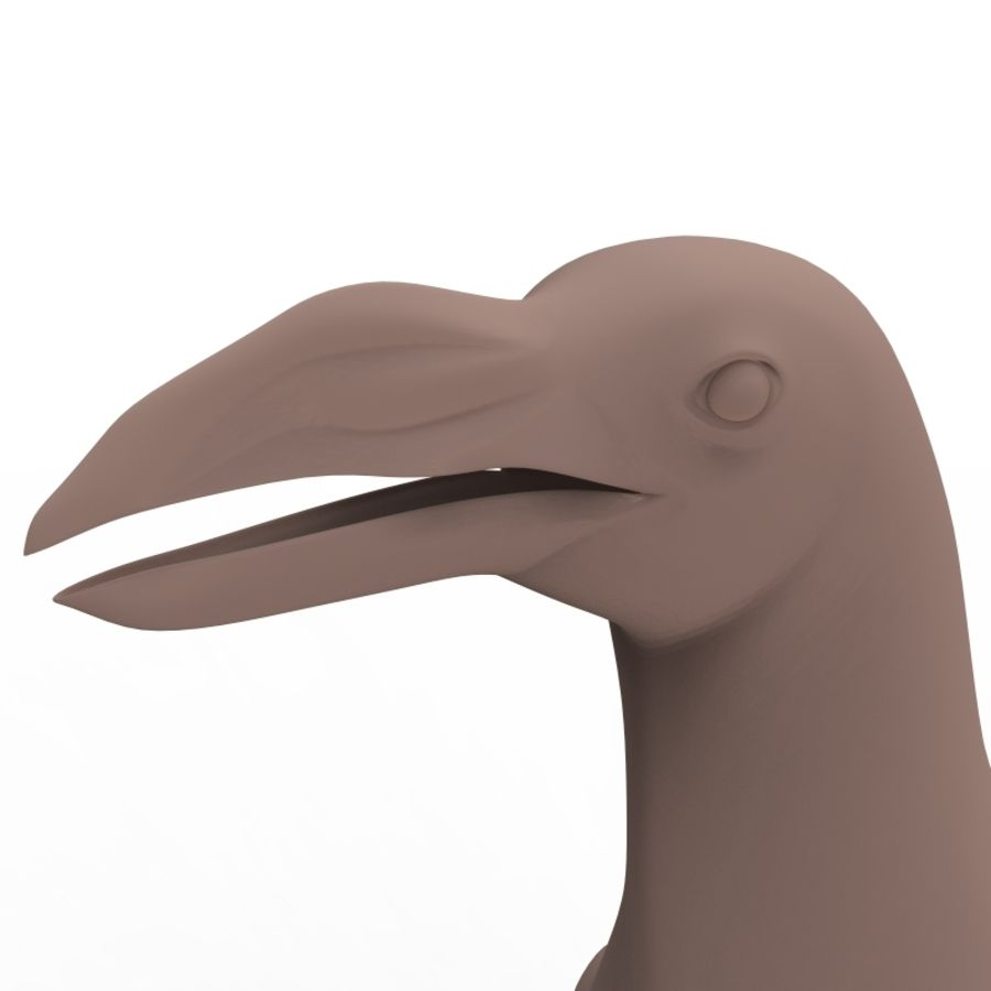 pinguïn royalty-free 3d model - Preview no. 3